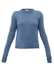 The Row Muriel Cashmere Sweater Blue