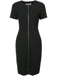 Prabal Gurung Zip Front Fitted Dress Black
