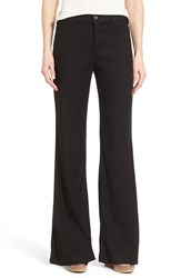 Nydj Women's 'Claire' Linen Blend Wide Leg Trousers Black