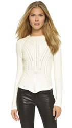 Red Valentino Cable Knit Sweater Avorio