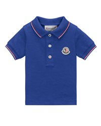 Moncler Maglia Tipped Pique Polo Shirt Size 4 6 Size 4 White