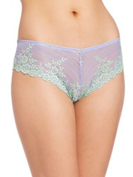 Wacoal Embrace Lace Tanga Antique Blue Antique White Sugar