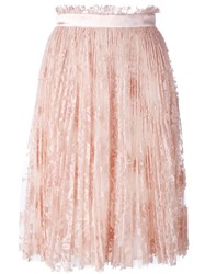 Alexander Mcqueen Pleated Lace Skirt Pink Purple
