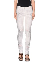 Patrizia Pepe Denim Denim Trousers Women White
