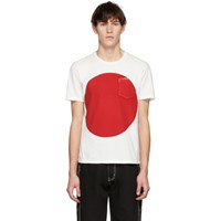 Blue Blue Japan Ssense Exclusive White And Red Big Circle T Shirt