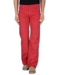 Jaggy Casual Pants Red