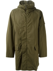 Mcq By Alexander Mcqueen Military Hooded Parka Green