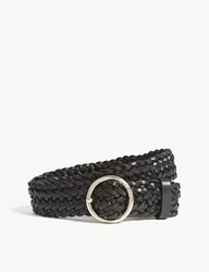 Claudie Pierlot Braided Leather Belt Black