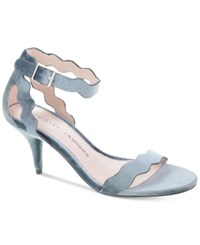 Chinese Laundry Rosie Two Piece Scalloped Dress Sandals Women's Shoes Steel Blue