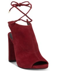 Kenneth Cole New York Women's Darla Lace Up Booties Women's Shoes Dark Red