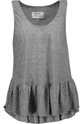 Current Elliott The Ballet Ruffled Jersey Tank Gray