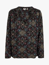 Fat Face Elle Jewel Blouse Black