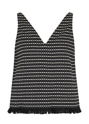 M.Patmos Quintana Jacquard Top Black And White