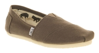 Toms Classic Slip On Espadrille Shoes Grey