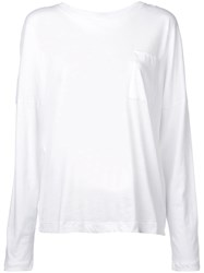 Adam By Adam Lippes Chest Pocket Longsleeved T Shirt White