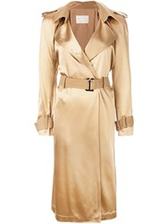 Dion Lee Trench Coat Brown