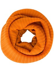 Issey Miyake Pleats Please By Pleated Snood Yellow Orange