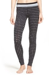 Dkny Women's Stretch Modal Leggings Black Dot