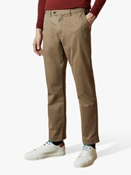 Ted Baker Clncere Straight Classic Fit Chinos Cream