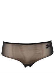 Chantal Thomass Satin Bow Mesh Brief