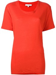 Iro Scoop Neck T Shirt Red