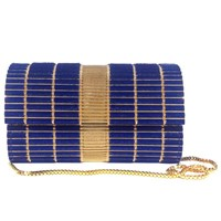 Ita Collection Farah Clutch Royal Blue