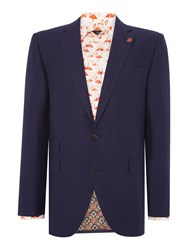 New And Lingwood Southwell Sb2 Check Linen Blazer Blue