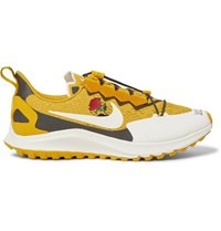 Nike X Undercover Gyakusou Zoom Pegasus 36 Trail Suede Trimmed Rubber And Mesh Running Sneakers Gold