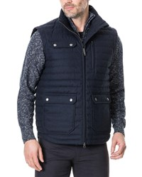 Rodd And Gunn Gapes Valley Quilted Zip Front Vest Navy