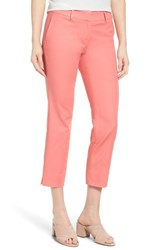 Halogenr Women's Halogen Crop Stretch Cotton Pants Coral Peach