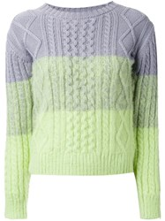 Guild Prime Tonal Cable Knit Jumper Grey