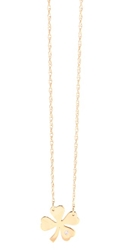 Jennifer Zeuner Jewelry Clover Necklace With Diamond Gold