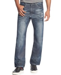 Sean John Men's Hamilton Relaxed Fit Jeans Medium Repair 2