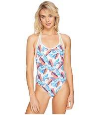 Vince Camuto Rainforest Racerback One Piece White Multi Women's Swimsuits One Piece