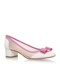 Salvatore Ferragamo Eva Mesh Pumps Female White