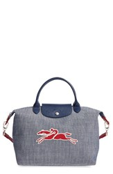 Longchamp Small Le Pliage Neo Chambray Travel Tote
