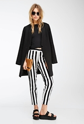 Forever 21 Awning Striped Straight Leg Trousers