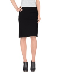 Henry Cotton's Knee Length Skirts Black