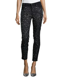 7 For All Mankind Ombre Crystal Skinny Jeans Black