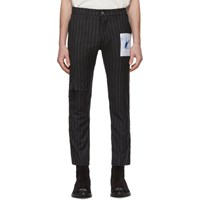 Enfants Riches Deprimes Black Pinstripe Patchwork Trousers