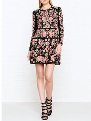 Needle And Thread Embroidered Rose Long Sleeve Prom Dress Black Pink Black Pink