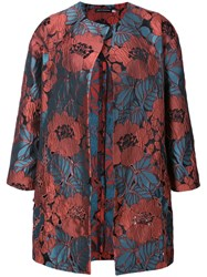 Natori Cut Out Embroidered Topper Jacket Acrylic Polyester