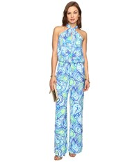 Lilly Pulitzer Emmy Jumpsuit Sparkling Blue Oh Shucks Women's Jumpsuit And Rompers One Piece