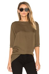 Vince Rib Trimmed Tunic Brown