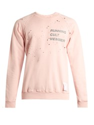 Satisfy Cult Distressed Cotton Sweater Pink