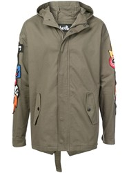 Haculla Hacmania Patch Hooded Coat Green