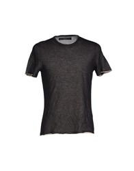 Kangra Cashmere Topwear T Shirts Men Steel Grey