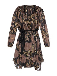 Lanvin Floral Lame Dress