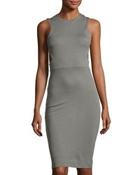 French Connection Lula Stretch Sheath Dress With Cutouts Green