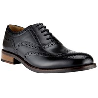 John Lewis Bentley Leather Lace Up Brogues Black